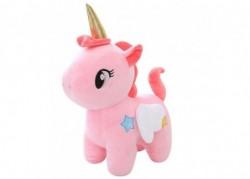 Peluche licorne aile rose