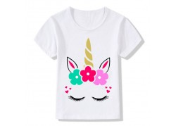 T-Shirt Licorne fleurie...