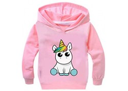 Sweat rose licorne blanche...