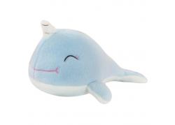 Peluche licorne baleine bleue