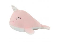 Peluche licorne baleine rose