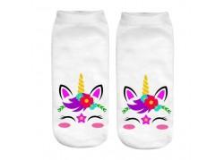 Chaussettes licorne florale