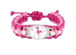 Bracelet licorne flamand rose