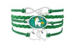 Bracelet licorne vert