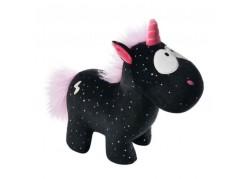 Peluche licorne noire étoilée