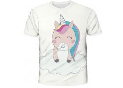 T-shirt licorne kawaii nuage