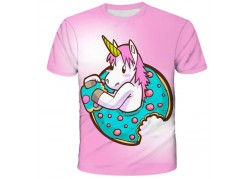 T-shirt rose enfant licorne...