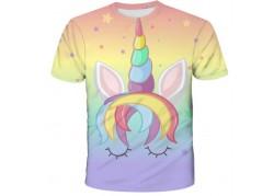 T-shirt licorne arc-en-ciel...