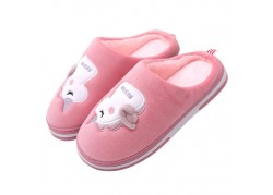 Pantoufle enfant licorne rose