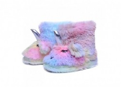 Chaussons boots licorne